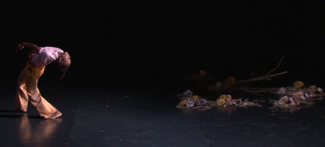 "Video still, taisha paggett performing in Meg Wolfe's ""New Faithful Disco,"" Bootleg Theater, 2014."