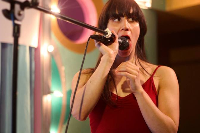 Allie Hankins, performing Salonathon.